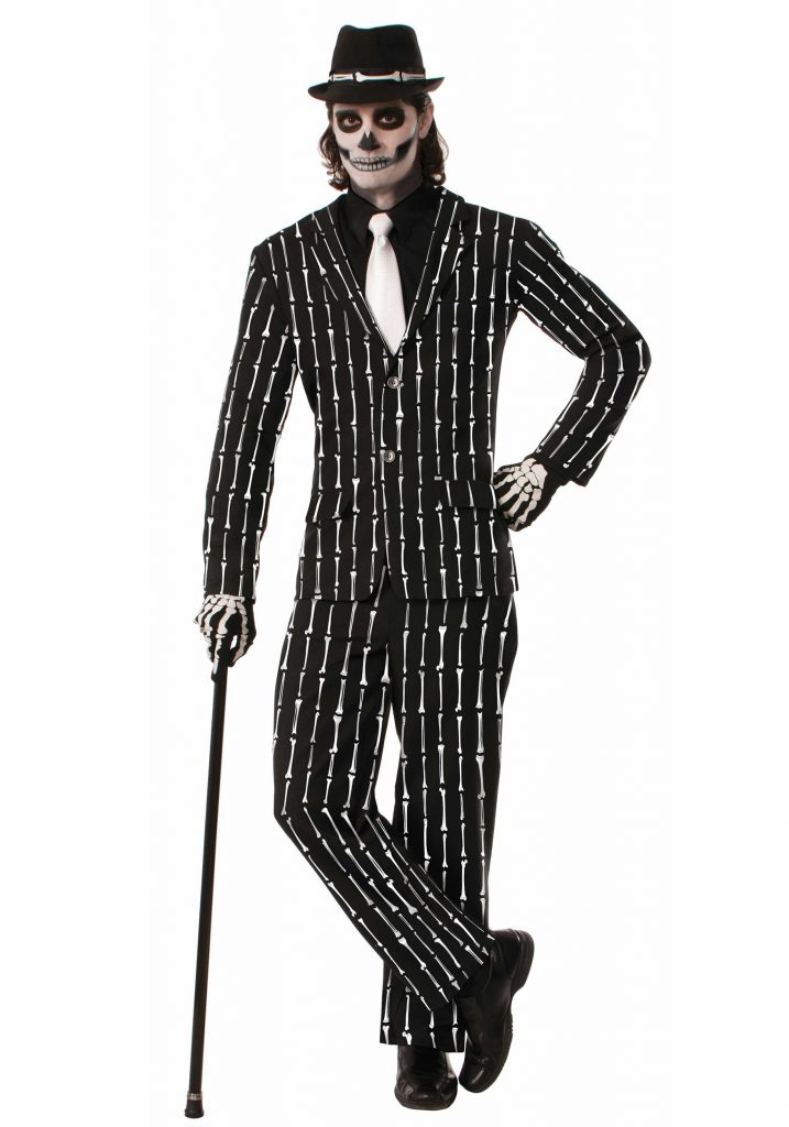 Bone Pin Stripe Suit for Teens