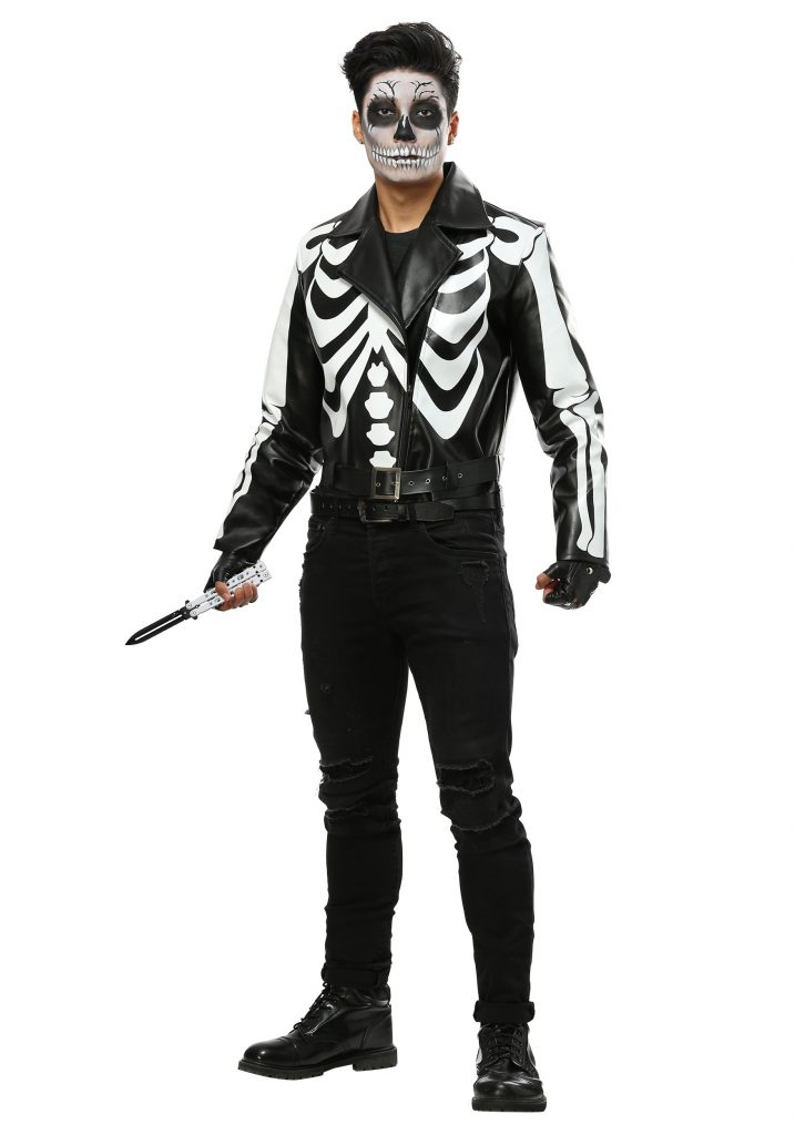Moto jacket skeleton costume