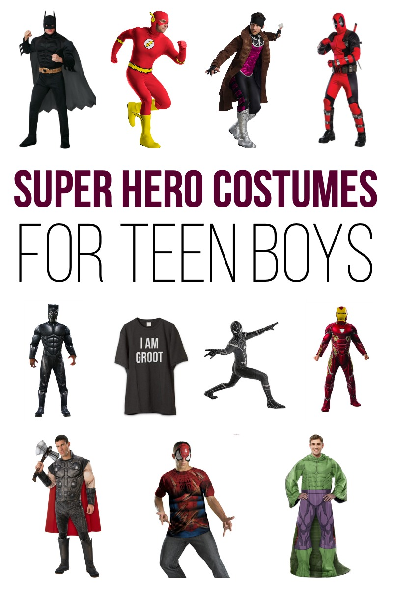 Super Hero Costumes for Teen Boys