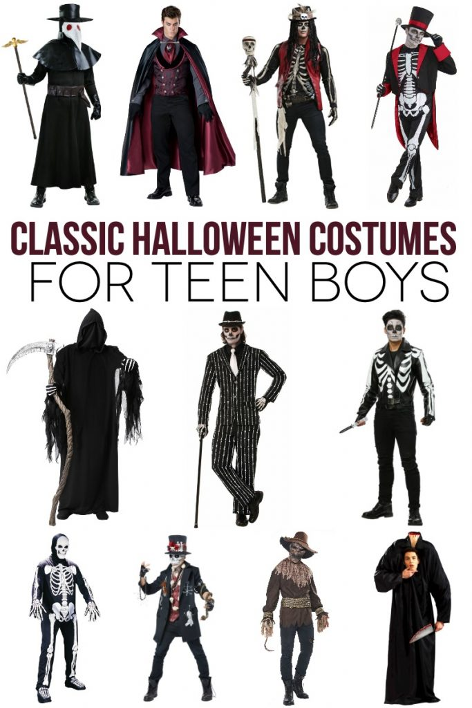 Classic Halloween Costumes for Teen Boys