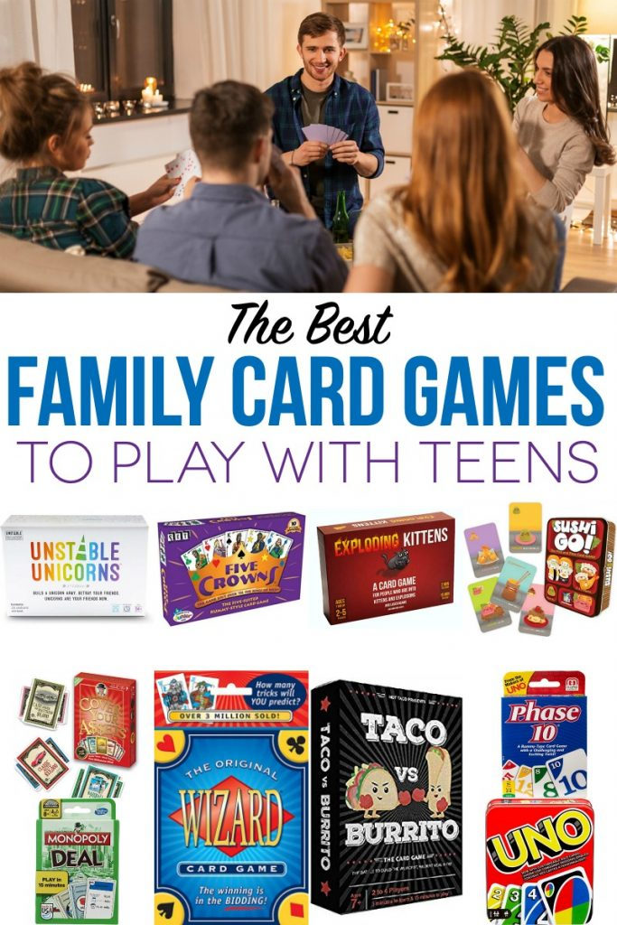 The Best Family Card Games to Play with Teens | Great card game recommendations for teens and adults.