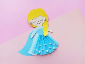 Queen Elsa – Frozen Craft for Kids (with Printable Template)