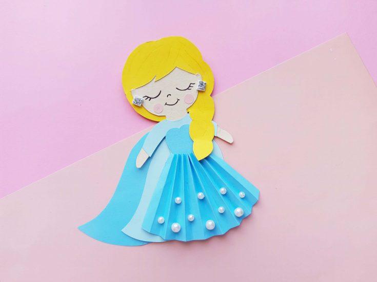 Queen Elsa Paper Craft