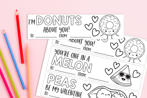 Printable Valentine's Day Bookmarks for Kids