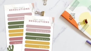 Printable New Year's Resolutions Planner