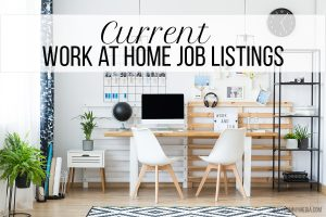 Current Work at Home Job Listings