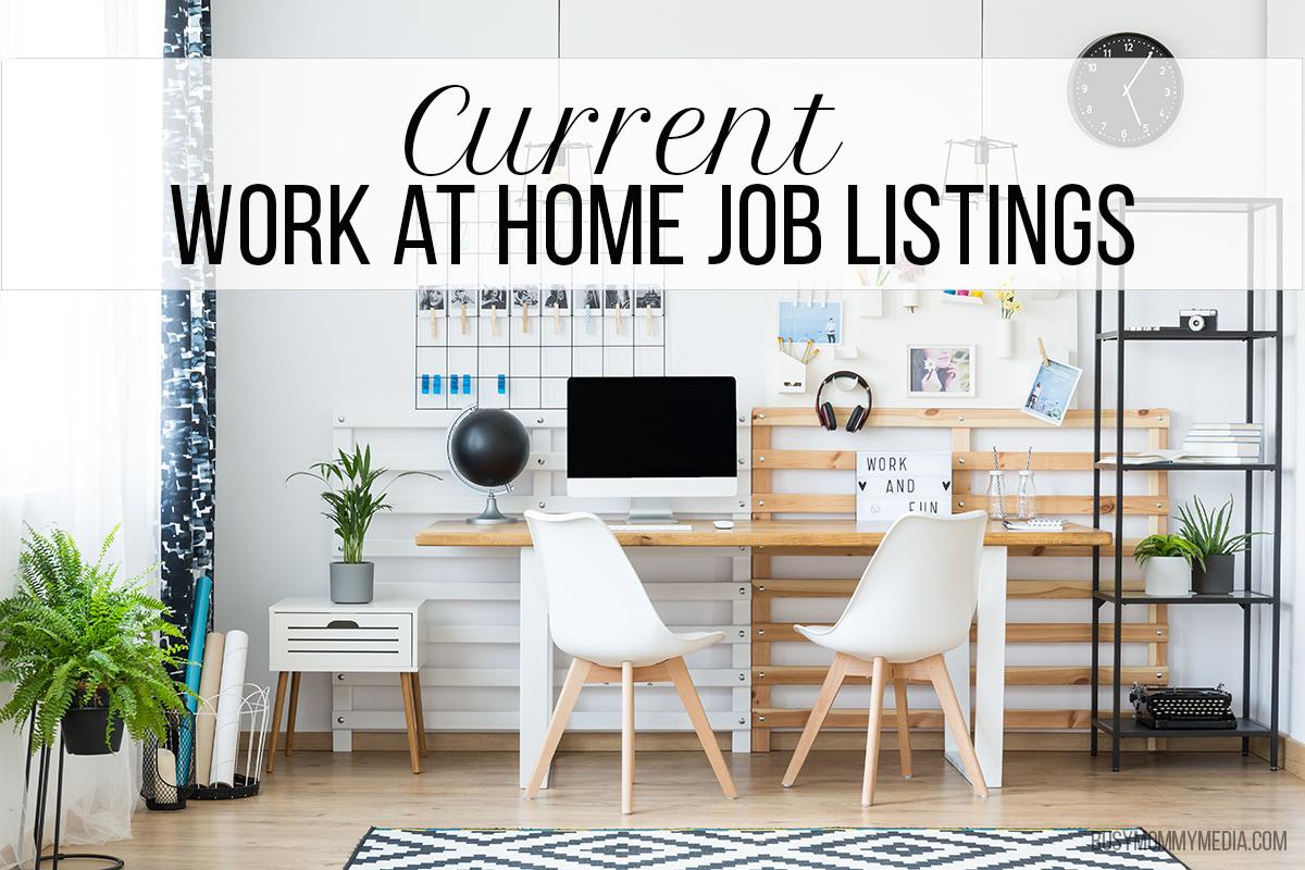 Cur Work At Home Job Listings